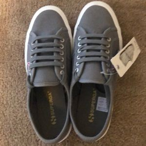 BRAND NEW Gray Superga Shoes